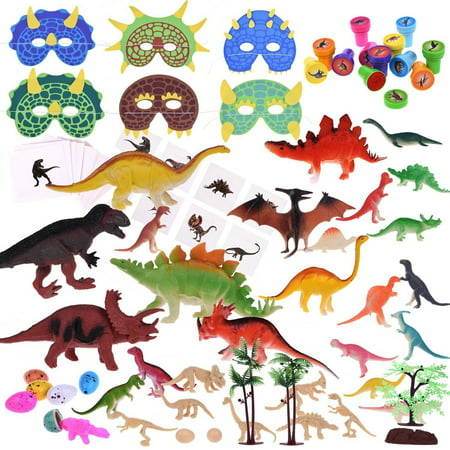 Dinosaur World Party Favor Box Jurassic World Toy for Kid Educational Set  88 PCs Halloween Decorations F-155 (Halloween Party Mystery Box)