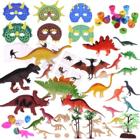 Dinosaur World Party Favor Box Jurassic World Toy for Kid Educational Set  88 PCs Halloween Decorations F-155 - Halloween Decorations For Kids Party