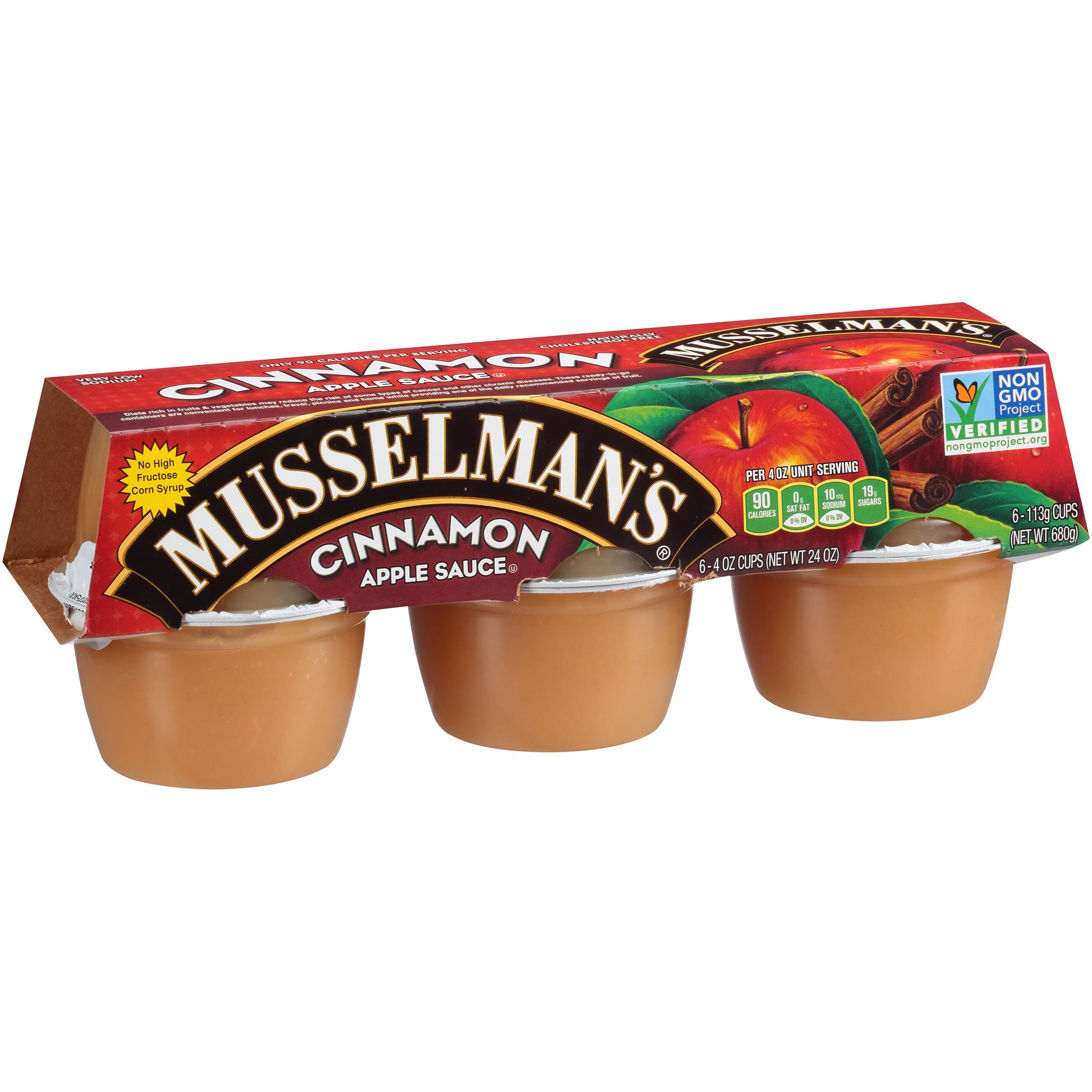 (3 Pack) Musselman's Cinnamon Apple Sauce 6-4 oz. Cups