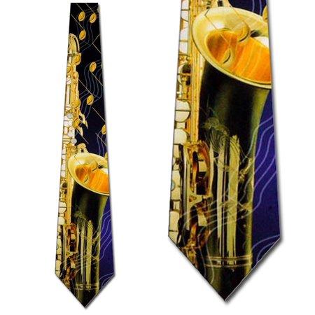 Saxophone and Notes Necktie Mens Tie