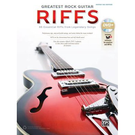 The Greatest Rock Guitar Riffs : Guitar Tab, Book & DVD-ROM