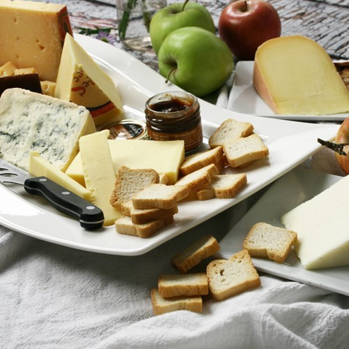 Assortment of Eclectic International Cheeses