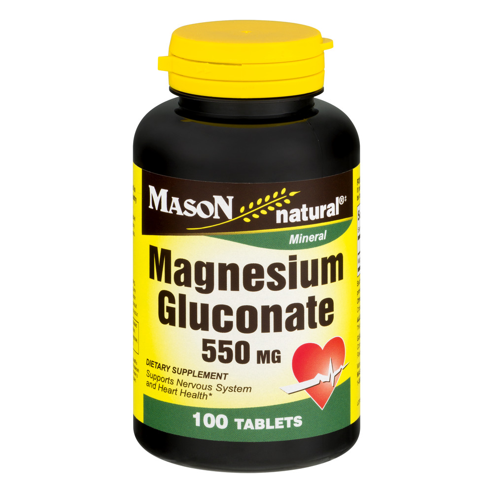 Mason Natural Magnesium Gluconate 550 MG - 100 CT