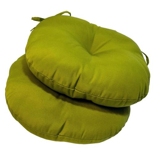 18-inch Round Outdoor Kiwi Bistro Chair Cushion (Set of 2)