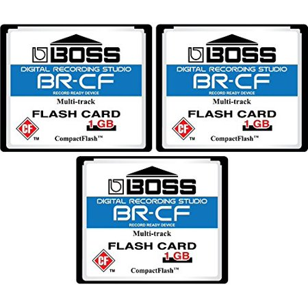 Digital Camera 1gb Card - 3-Pack 1GB Boss Roland BR-CF CompactFlash CF Memory Card for BR-600, BR-864, BR-900CD, MC-808 (3pack)