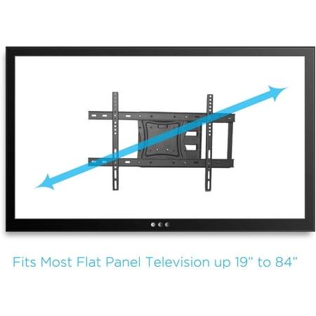 onn. Full-Motion Articulating, Tilt/Swivel, Universal Wall Mount Kit for 19