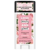 Love Beauty and Planet Murumuru Butter and Rose Deodorant, 2.95 oz