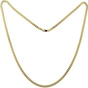 18kt Gold over Sterling Silver Grometta 4MM Chain, 24