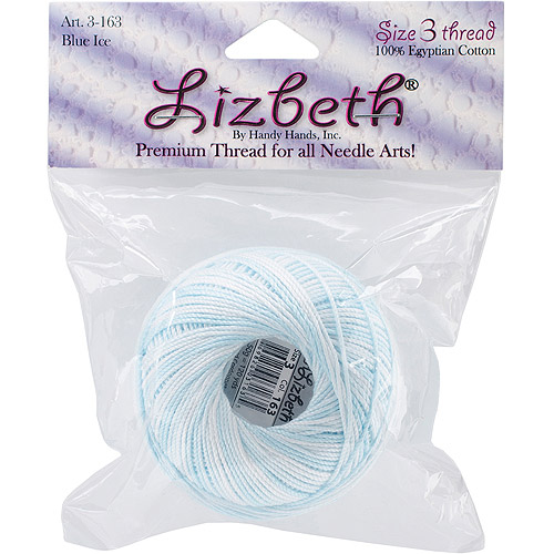 Lizbeth Cordonnet Cotton Size 3-Blue Ice