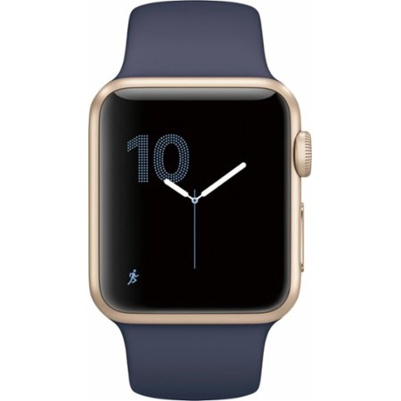 Apple Watch Series 2, 38mm Gold Aluminum Case with Midnight Blue Sport Band