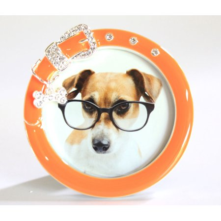 Two's Company - 3x3 Must Love Dogs Frame - Orange ()