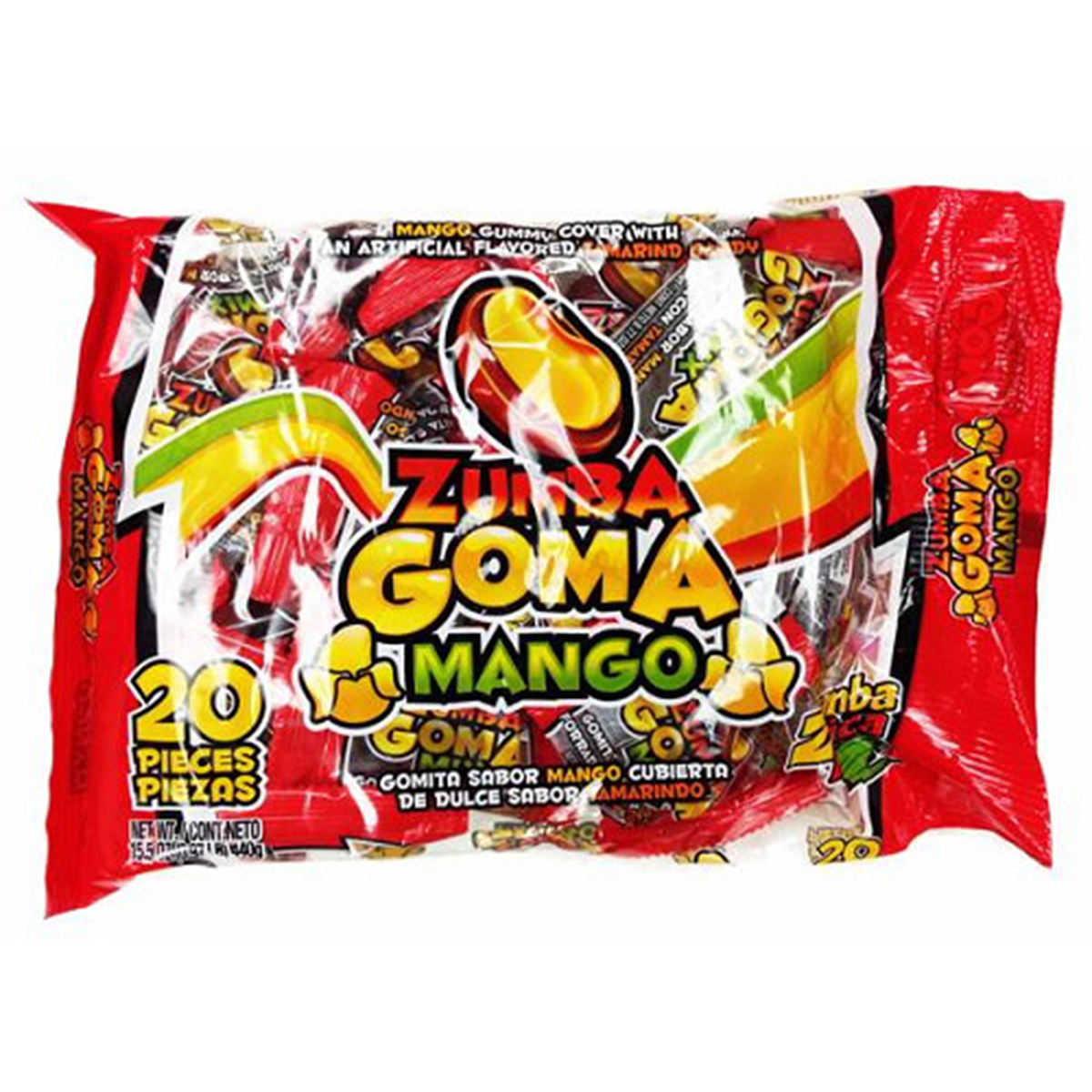 ZUMBA PICA ZUMBA GOMA MANGO Bag ( 20 in a Pack )
