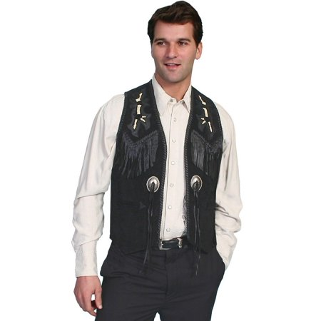 Men's Scully Handlaced Bead Trim Vest 755