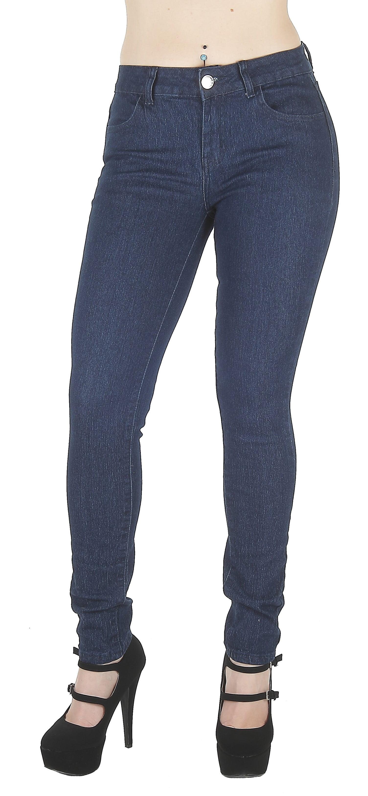 F2L-N520A-P - Plus Size, Classic 4 Pockets, Mid Waist, Sexy Skinny Jeans