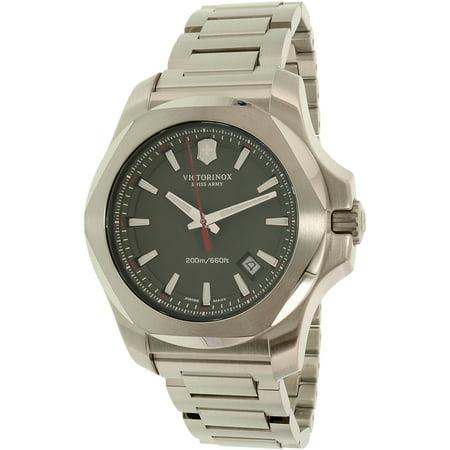 Victorinox Swiss Army Men's I.N.O.X. 241725.1 Silver Stainless-Steel Swiss Quartz Fashion Watch -  0763000072101