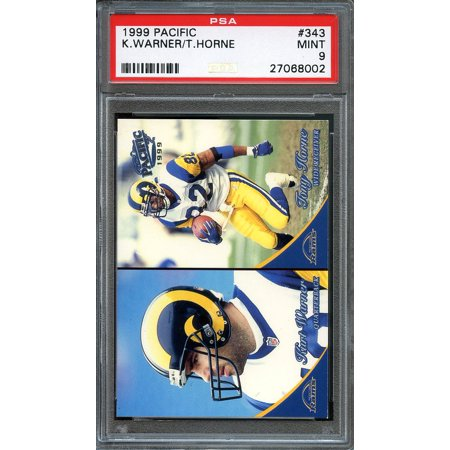 1999 Pacific  343 Kurt Warner St Louis Rams Rookie Card Psa 9