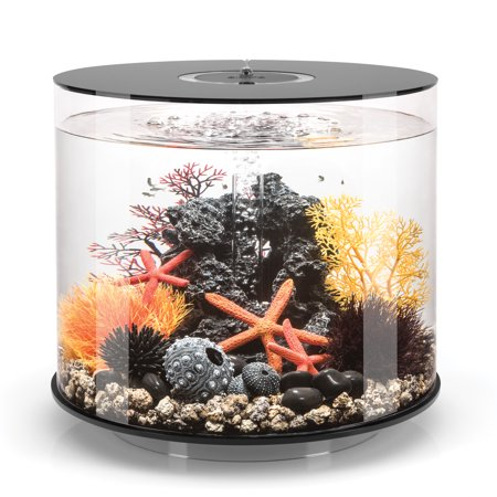 biOrb TUBE 35 Aquarium with MCR Light - 9.2 gallon, black