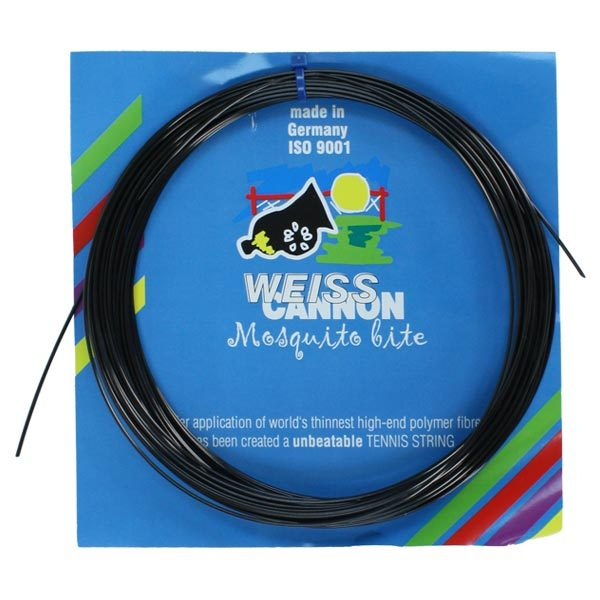 Mosquito Bite 18G Black Tennis String by WEISS CANNON