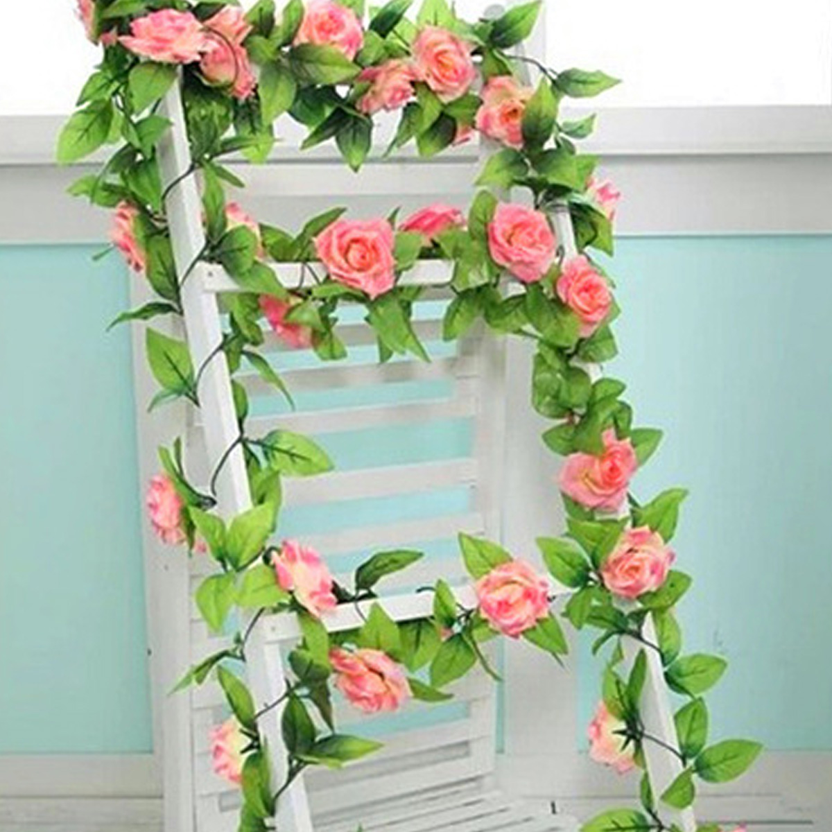 Home Decor Hanging Garland Fake Ivy Vine Silk Sunflower Artificial Flowers