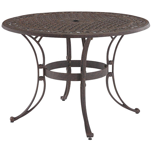 "Home Styles Biscayne 42"" Round Outdoor Dining Table, Multiple Finishes"