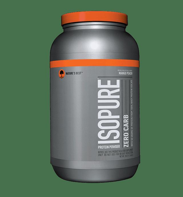 Isopure Zero Carb Protein Powder, Mango Peach, 50g Protein, 3 Lb