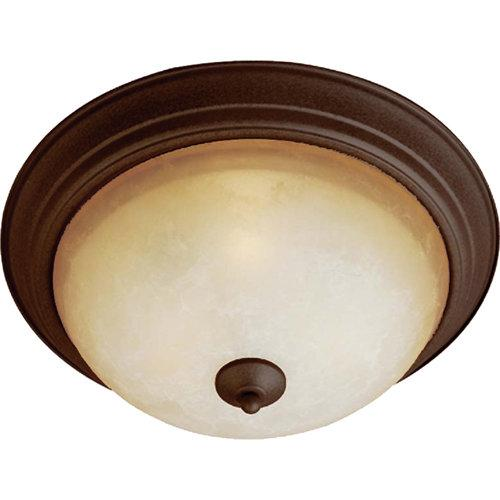 Maxim  5855  Ceiling Fixtures  Essentials  Indoor Lighting  Flush Mount  ;Oil Rubbed Bronze / Latte Glass