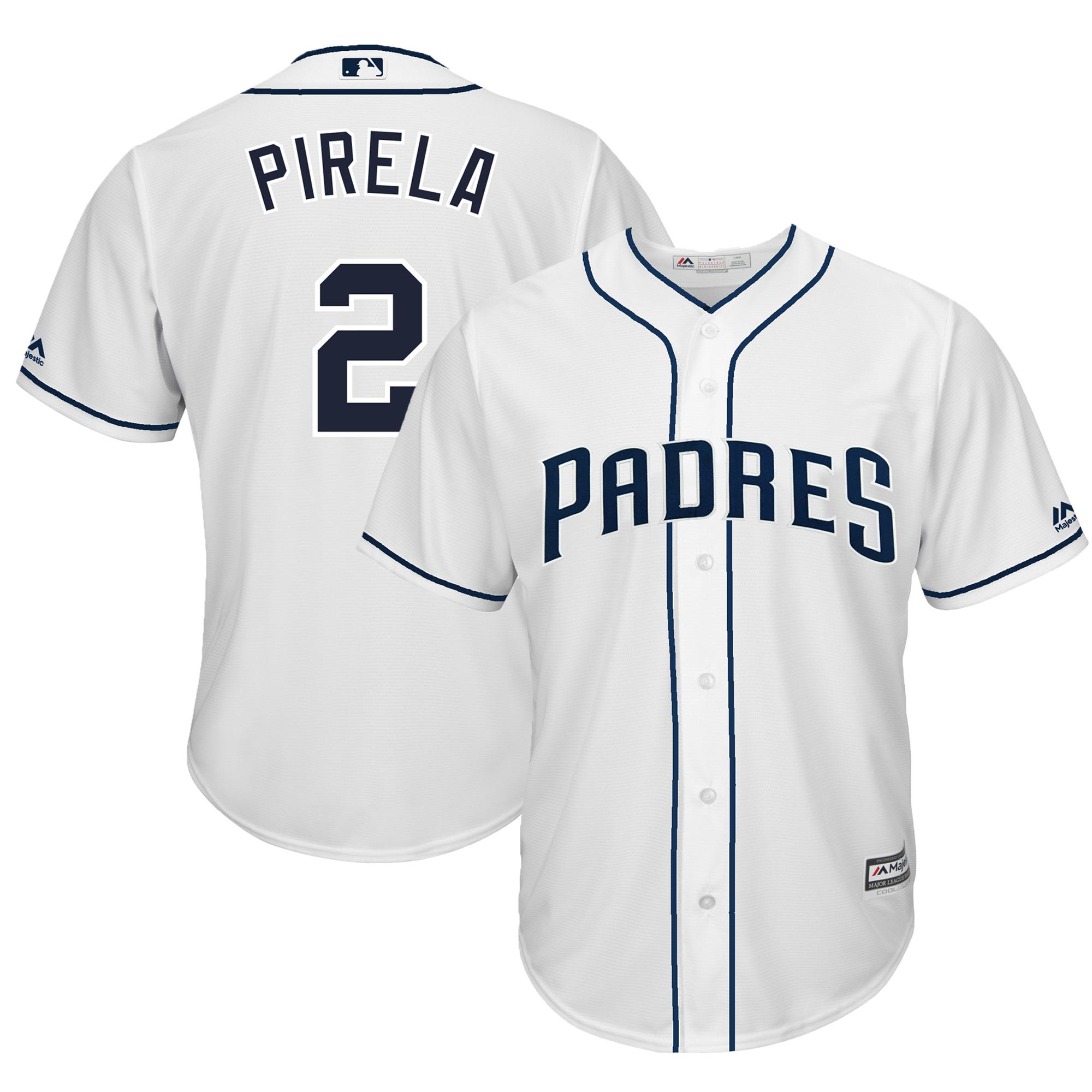 Jose Pirela San Diego Padres Majestic Home Cool Base Player Jersey - White