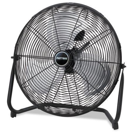 Patton High Velocity Fan, Three-Speed, Black, 20