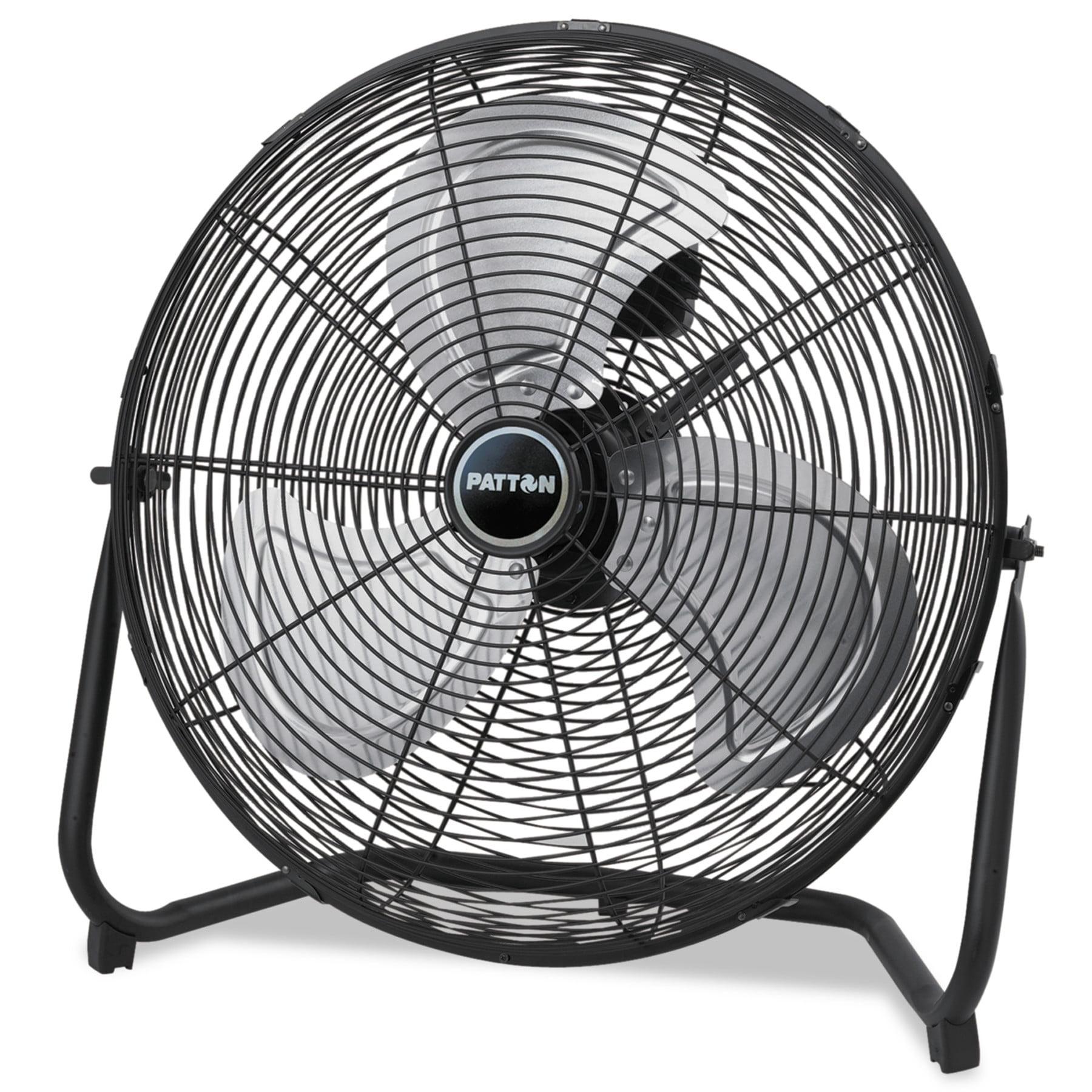 "Patton High Velocity Fan, Three-Speed, Black, 20"" 1/2""W x 8 5/8""H"