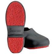 WINTER WALKING JD2226-S Overshoes, Mens, S, Pull On, Blk, Latex, 1PR