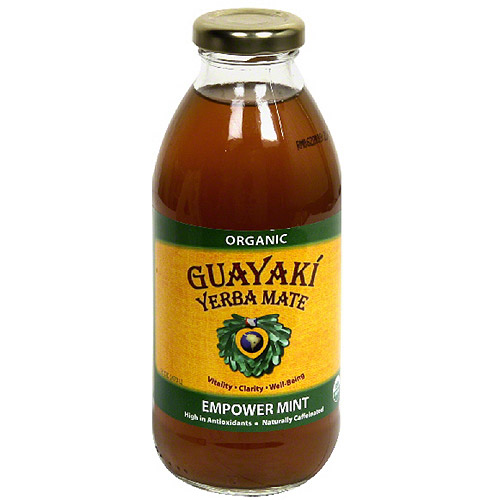 Guayaki Yerba Mate Pure Empower Mint Dietary Supplement, 16 fl oz, (Pack of 12)