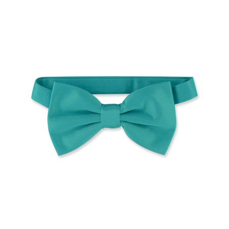 Vesuvio Napoli BOWTIE Solid TEAL Color Men's Bow Tie for Tuxedo or Suit