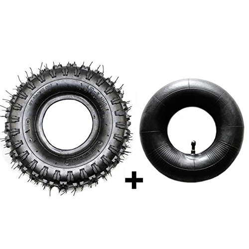 JCMOTO Tire And Inner Tube Set 4.10x3.50-4 (4.10-4)   Off...