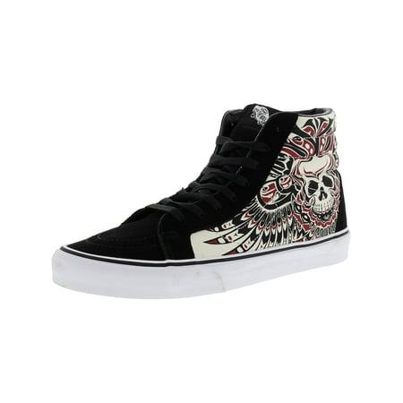cfd9a8ea26e553 Vans - Vans Men s Sk8-Hi Reissue Stormy Bird Black   True White High-Top  Leather Skateboarding Shoe - 11M - Walmart.com
