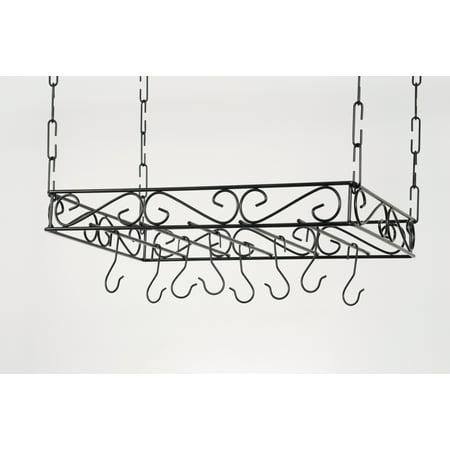 Concept Housewares Scrolled Iron Pot Rack
