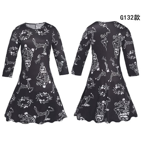 bd4797cff05 UKAP - Asian size 2018 Ms Christmas Costume Snowman Christmas Tree Dress  Winter Fashion Long-sleeved Dress Plus Size Knee-Length Dress Women  Vestidos ...