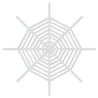 DDI 530269 Giant Shimmering Spider Web - White Case of 12