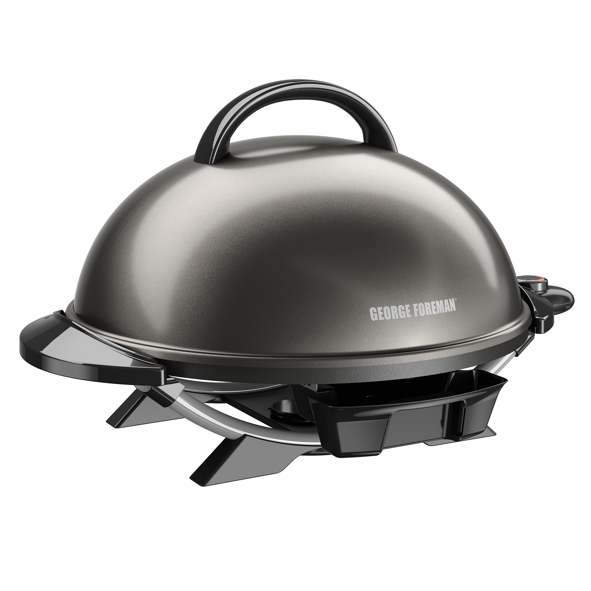 George Foreman 15+ Serving Indoor/Outdoor Electric Grill, Gun Metal, GFO240GM