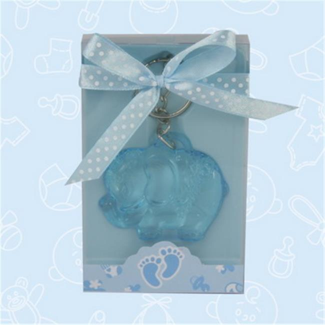 De Yi Enterprise Inc.  27006-BL Cute Blue Elephant Acrylic Keychain