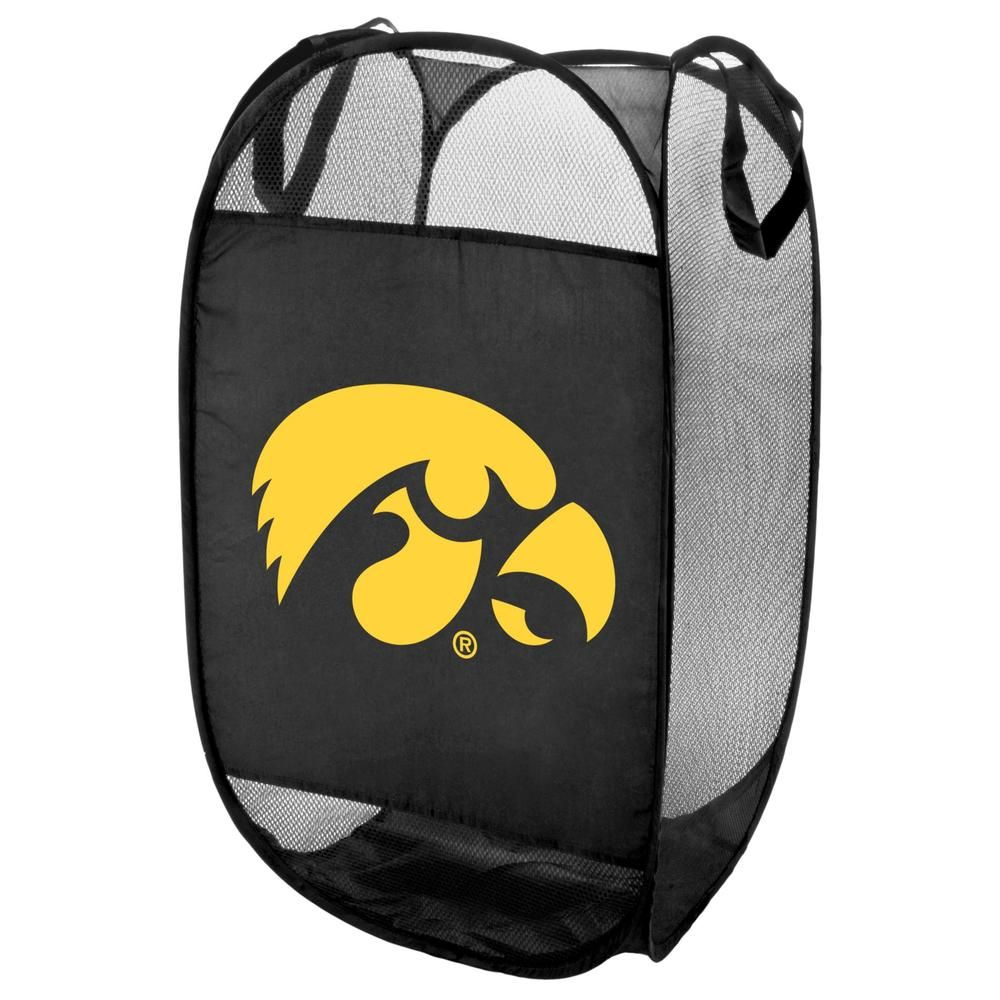 Iowa Hawkeyes Official NCAA Laundry Hamper Fold Up Flip Open by Forever Collectibles 069577