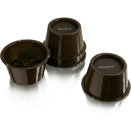 "Slipstick 2"" Tall Premium Furniture Risers, Chocolate Brown, Set of 4"