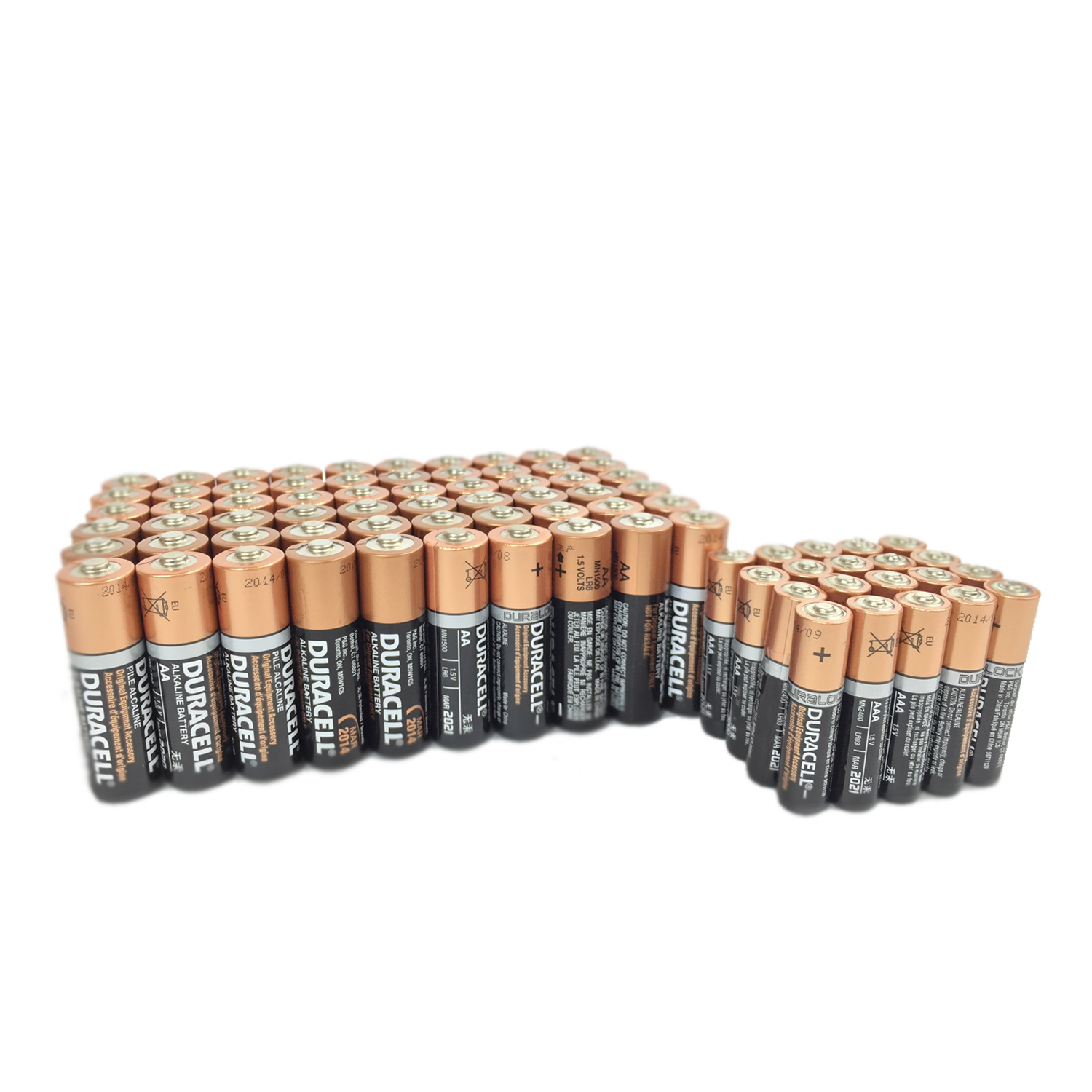 Duracell 60 AA + 20 AAA Copper Top Alkaline Duralock Long Lasting Batteries