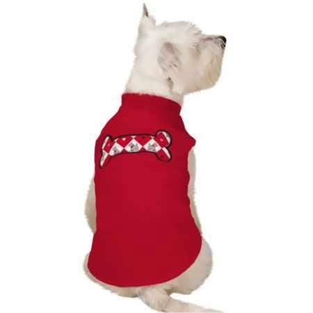 Zack  Zoey Sweetheart Scottie Fleece Vest Red  (Zack Elastic)