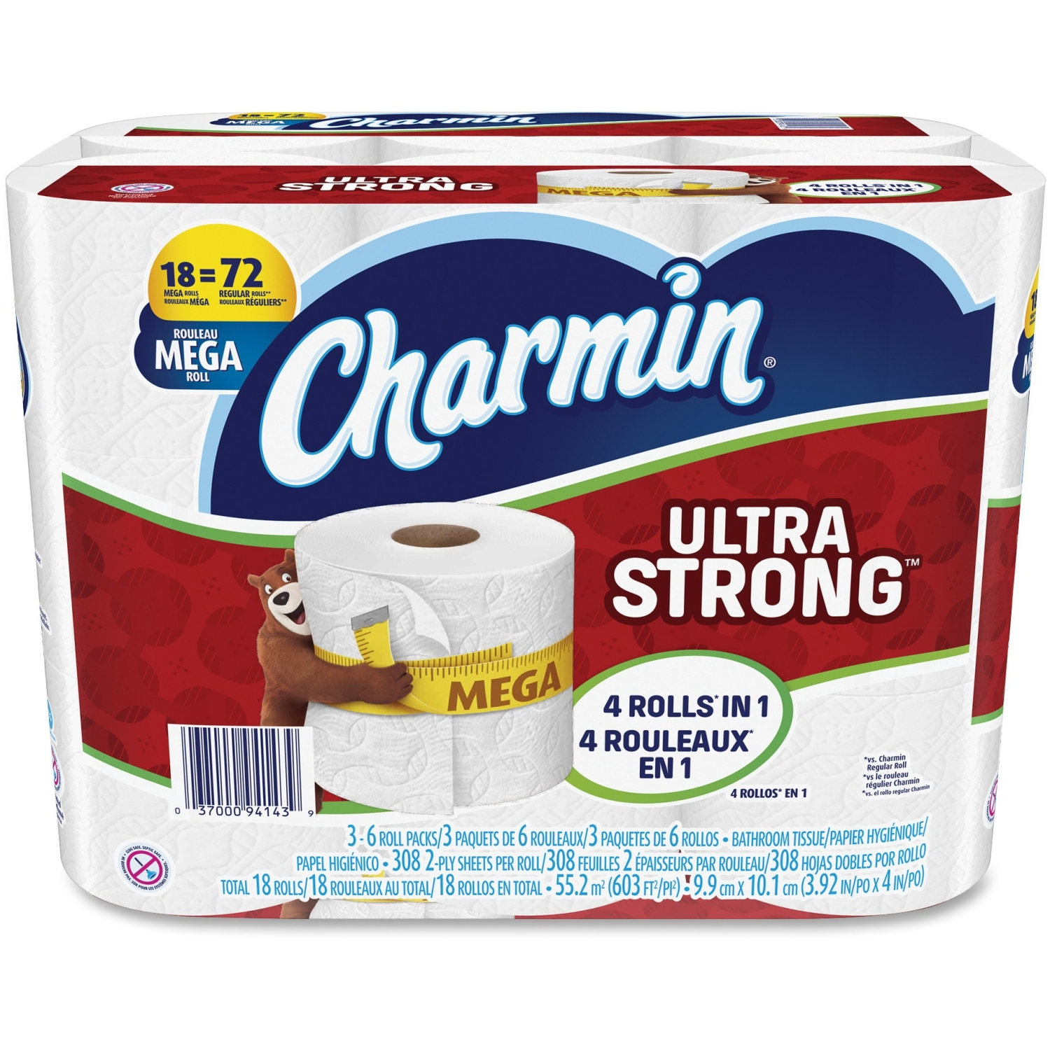 Charmin Ultra Strong Toilet Paper, 18 Mega Rolls by Procter & Gamble