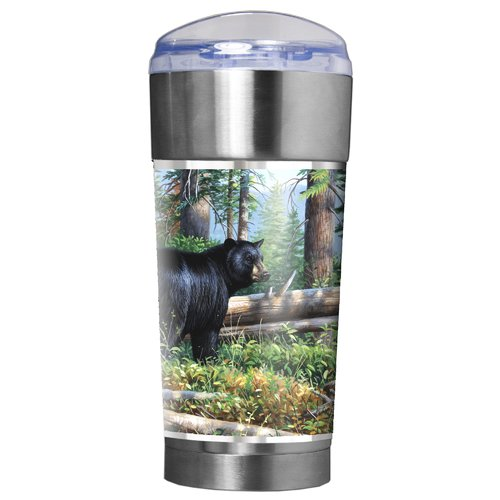 Great American Products Black Bear Traditions 24 oz. Stainless Steel Travel Tumbler