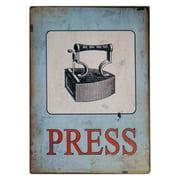 VIP International Press Laundry Wall Sign