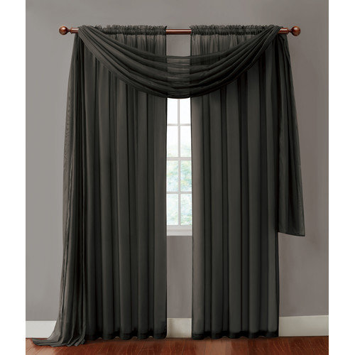 Infinity Sheer Curtain Panels, Supremely Silky Drapes, 55 Width x 108 Length Sheer Window Treatment by Victoria Classics