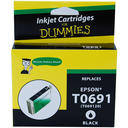 For Dummies - Epson T0691 Black Inkjet Cartridge, Remanufactured