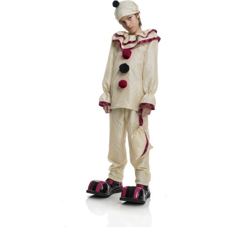Child's Boys Evil Creepy Scary Carnival Circus Clown Costume