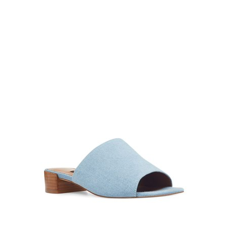enjoy best price various styles catch Nine West - Raissa Block Heel Denim Slides - Walmart.com